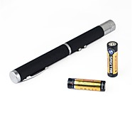 LT-HJ  Green And Green Laser Pointer (1MW, 532nm, 2xAA, Black)