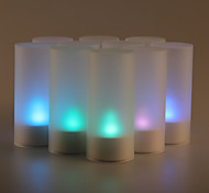 12PCS Sound Sensor Flicker 7 Color Changing LED Candle Light