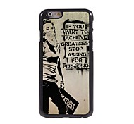 Girl Pattern Aluminum Hard Case for iPhone 6