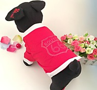 Dog Shirt / T-Shirt Dark Pink Summer Letter & Number Cosplay