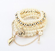 Women's  Multi-cat Pearl Stretch Bracelet Christmas Gifts