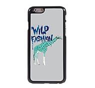 Green Giraffe Pattern Aluminum Hard Case for iPhone 6 Plus