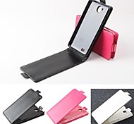 Hot Sale 100% PU Leather Flip Leather Up and Down Case for Huawei G606(Assorted Colors)