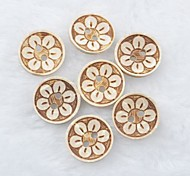 Flower Pattern Scrapbook Scraft Sewing DIY Coconut Shell Buttons(10 PCS)