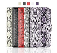 Angibabe Snake Pattern Flip PU Wallet Leather Case with Card Slots for iPhone 6 Case 4.7 inch