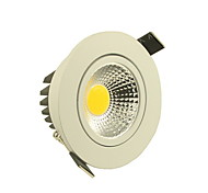 5W Luces de Techo Luces Empotradas 1 COB 500-550 lm Blanco Cálido / Blanco Fresco Regulable AC 110-130 V