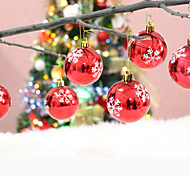 Christmas Tree Ornament Colorful Plastic Snowglobes,Set of 6