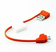 Key Chain Style Portable Micro USB Data Cable for Samsung and Other Phones(Assorted Color)