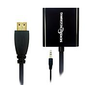 Sensecheering 0.2M 0.656FT Mini HDMI Male to 15 Pins VGA Female transfer Cables