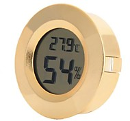 Household Electronic Thermometer  Hygrometer  Golden