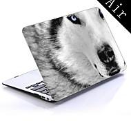 bisher beste weiße Wolf Design Ganzkörper-Kunststoffschutzhülle für 11-Zoll / 13-Zoll neue Mac Book Luft