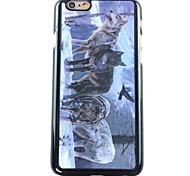 3D Wolves Pattern Hard  Case for iPhone 6