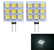 G4 W 9 SMD 5050 90~100 LM Koel wit 2-pins lampen DC 12 V