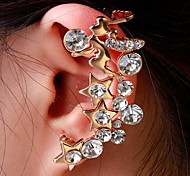 Fashion Exquisite Women Rhienstone Star Ear Cuffs Random Color
