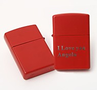 Personalized Engrave Red  Metal Oil Lighter