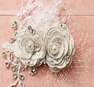 Post Rhinestone Flower Bride Headpieces(More Colors)