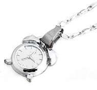 Alarm Clock Shining High Quanlity Silver Plated Tiny Necklace
