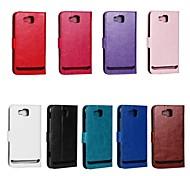 grain de cheval en cuir PU couverture complète du corps avec support et étui pour le i8750 de Samsung Ativ (couleurs assorties)