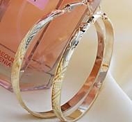 fashion gold Creolen zufällige Farbe
