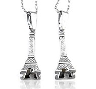 Eiffel Tower Couple Necklace