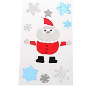 Weihnachtsmann-Schneeflocke Tür / Fenster / Wandaufkleber Weihnachtsschmuck
