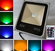 50 W 1 Krachtige LED 4500 LM K RGB Op afstand bedienbaar Schijnwerperlampen AC 85-265 V