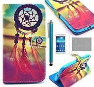 Coco fun® padrão nó chinês estojo de couro pu com protetor de tela e caneta para samsung galaxy grande 2 g7106