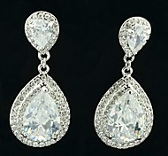 Earring Drop Earrings Jewelry Wedding / Party / Daily Alloy / Rhinestone Clear