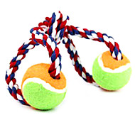 Double Ball  Rope Pet Toy For Pet Dogs(Random Colour)