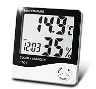 medidor de umidade temperatura doméstico digital com o tempo do calendário função de despertador Boyang HTC-1
