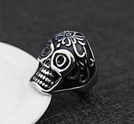 Fashion Stainless Steel Halloween Skull Punk Men's Rings (1 Pc)