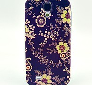 Black Flower Pattern TPU Soft Case for S4 I9500