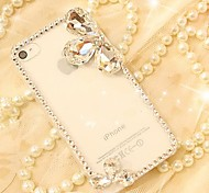 Frame Covered with Diamond Hard Back for iPhone 4 /  iPhone 4S