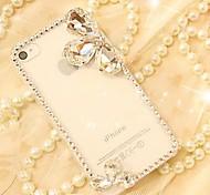 marco cubierto de diamante duro volver para el iphone 4s 4 / iphone