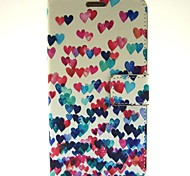 Heart Pattern PU Leather Case with Stand Card for Samsung Galaxy Note3 N9000