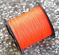 200M / 220 Yards PE Braided Line / Dyneema / Superline Fishing Line Orange 50LB 0.32 mm ForSea Fishing / Fly Fishing / Bait Casting /