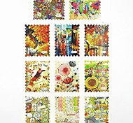 Adesivi stampa di trasferimento dell'acqua chiodo decalcomanie 1x11pcs bowknot per le decorazioni di arte del chiodo punte del chiodo (25 * 16 * 0,1