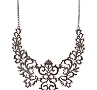 JANESTONE Women's Fashion Black Exaggerated Alloy Necklace