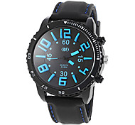 Men's Big Round Dial Silicone Band Quartz Fashion Watch (Assorted Colors)
