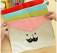 Cartoon Beard Transparent Waterproof Folder