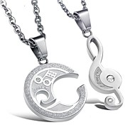 the Music of Love Couples Necklace