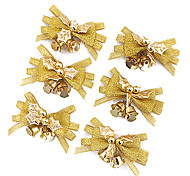 6PCS Nochi 4*7cm Gold Cloth Christmas Ring-down Christmas Decorations