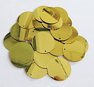 25PCS Golden Light Circle Sequin 2.5cm Handmade DIY Craft Material/Clothing Accessories