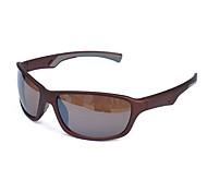 Occhiali da sole maschi / donne / Unisex's Classico / Sportivo / Di tendenza Rettangolare Marrone Occhiali da sole / Sportivo Full-Rim