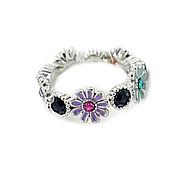diamant lureme®colorful douce fleurs de marguerite mignonne bague (de couleurs assorties)