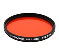 natureza laranja 86 milímetros filtro pancromática