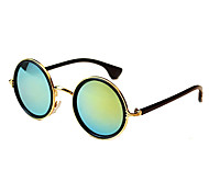 Sunglasses Men / Women / Unisex's Classic / Retro/Vintage / Sports Round Silver / Gold / Pink / Blue / Green Sunglasses Full-Rim