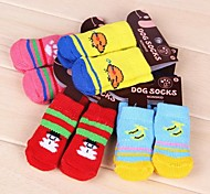 Soft Sock with Different Pattern for Pet Dogs(Assorted Sizes,Random Colour)