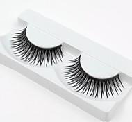 heißer Verkauf 1 Paare natürliche schwarze lange dicke falschen Wimpern Wimpern Wimpern für Augen Erweiterungen