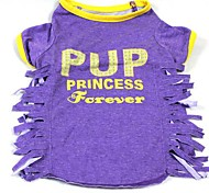 Dog T-Shirt - M - Summer - Blue / Pink / Purple Cotton